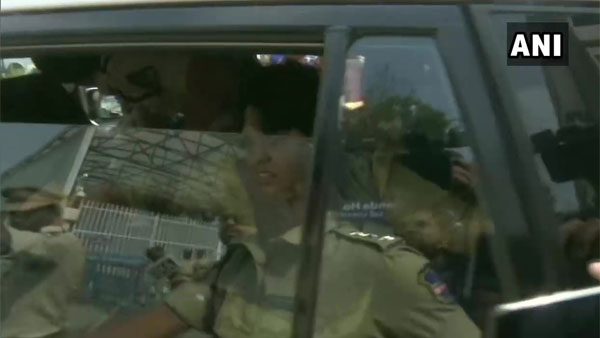 Hyderabad vet rape-murder: Trupti Desai stages protest at the KCR office, detained