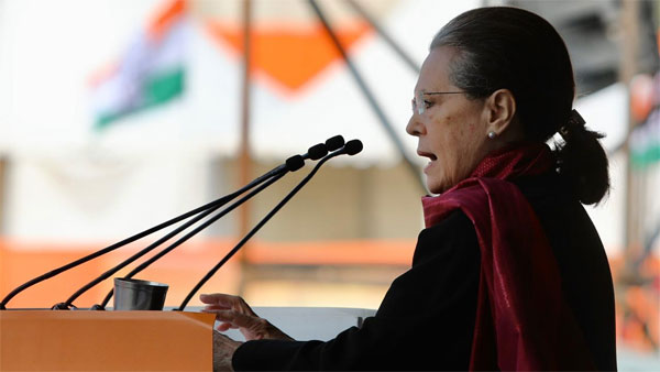 Time has come to rise to save democracy and Constitution: Sonia Gandhi