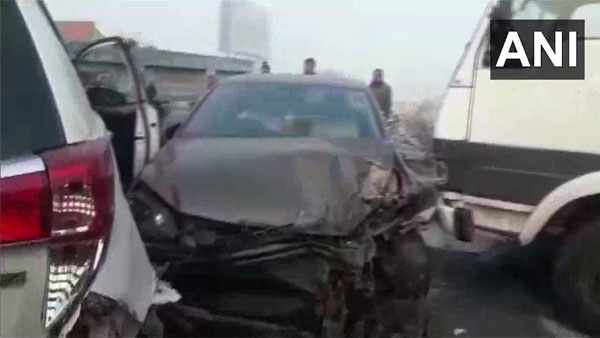 Fog woes: About a dozen hurt after vehicles collide on National Highway in Rajasthan