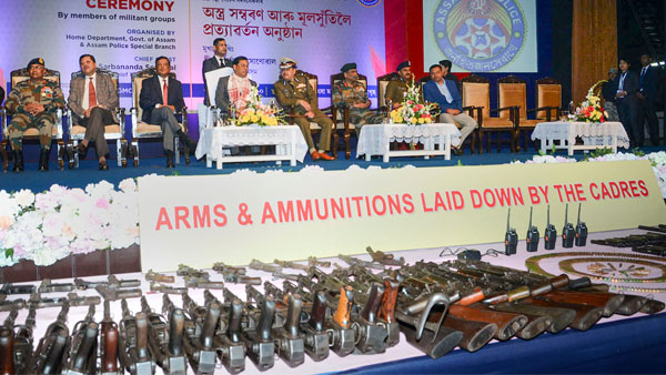 644 militants of eight banned outfits surrender in Assam along with 177 arms, says police chief