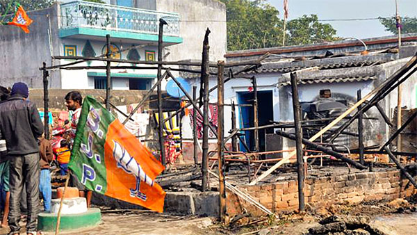 WB: After Asansol, another BJP office set ablaze in Bankura