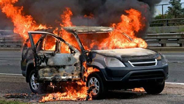 14 cars parked on open ground gutted in massive fire in Vivek Vihar