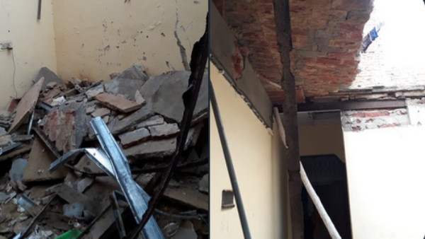 1 dead, 8 injured after roof of building collapses in Delhi