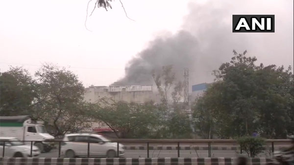 Fire breaks out at footwear manufacturing factory at Delhis Lawrence road