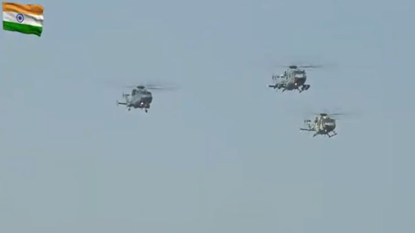 New entrants Chinook, Apache helicopters perform fly-past