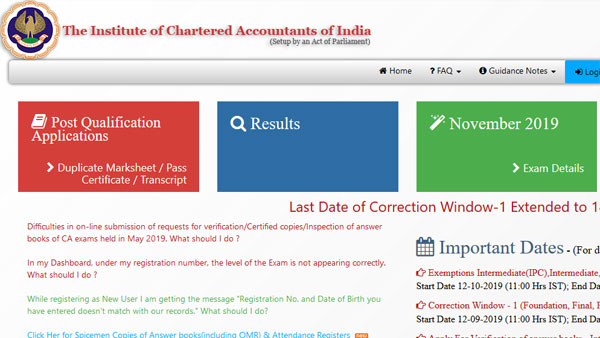 ICAI CA Result 2019 to be declared today