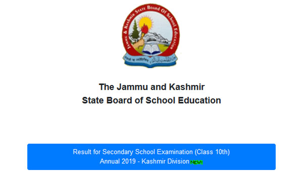 Declared: JKBOSE 10th annual results 2019