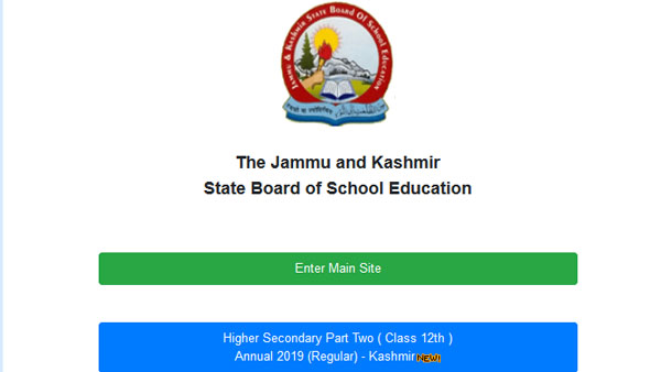 JKBOSE 12th Kashmir result 2019 declared on jkbose.ac.in