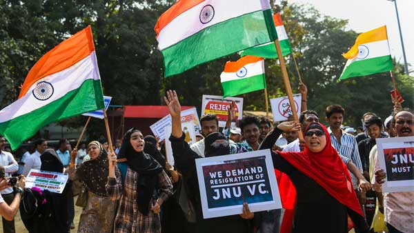 Protest against CAA, JNU campus violence held in Mumbai