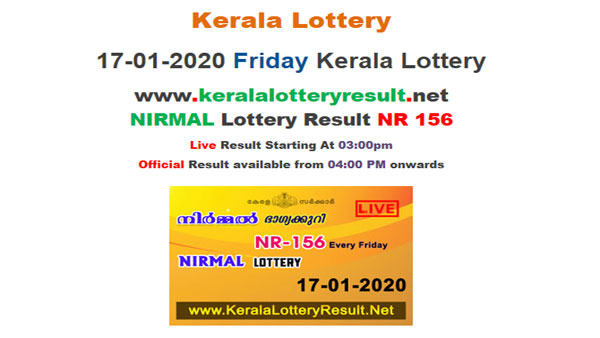 Kerala Nirmal NR-156 Lottery results today