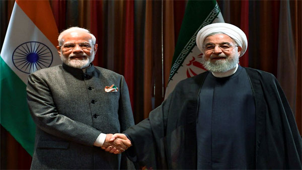 Prime Minister Narendra Modi and President of the Islamic Republic of Iran Hassan Rouhani