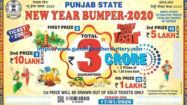 Punjab State New Year Number 2020 lottery result: Direct link to buy ticket