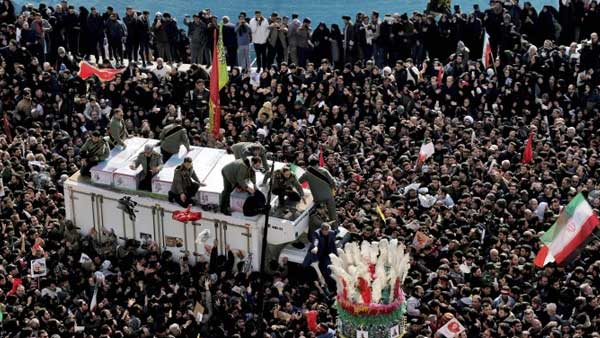 35 killed in stampede at funeral for Qasem Soleimani