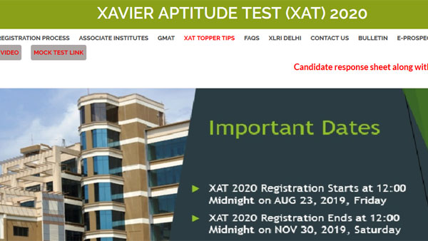 XAT result 2020 expected next week