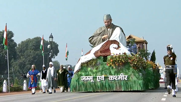 J&K Tableau on govt's 'Back to Village' program