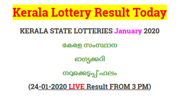 Kerala Lottery Nirmal NR-157 today lottery result LIVE