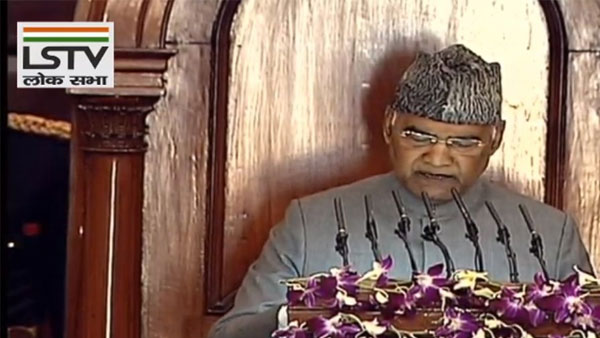 President Kovind's address repetition of old slogans, cliches: Congress