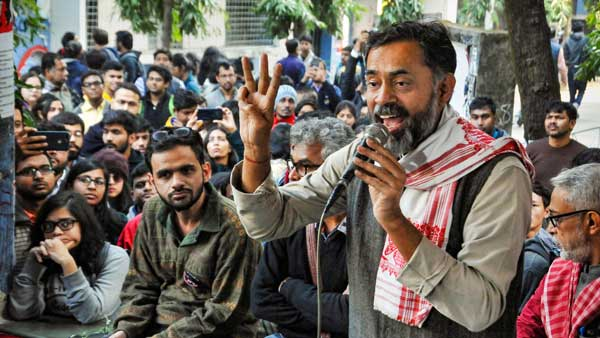 Modi can only see white cap, hijab and not tricolour: Yogendra Yadav lashes out over CAA