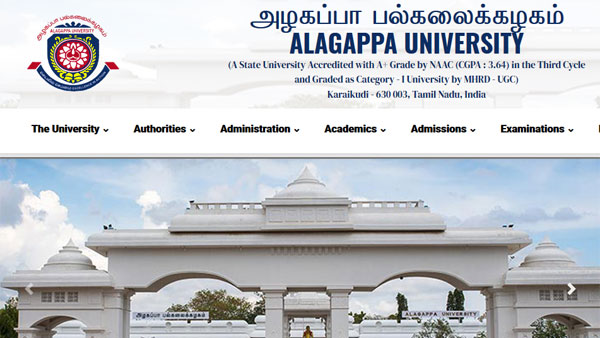 Direct link to download Alagappa University UG Results 2019