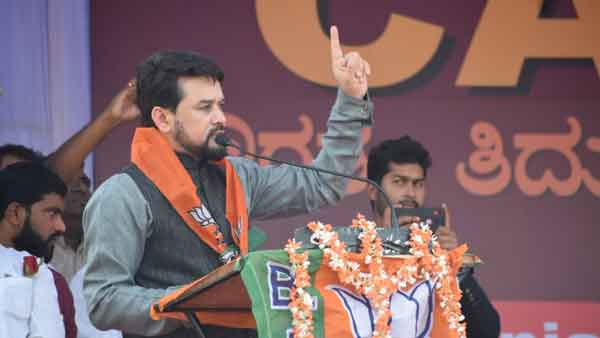 Shaheen Bagh will be cleared once BJP comes to power, says Anurag Thakur