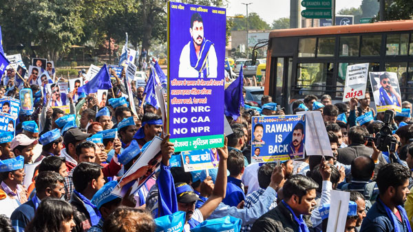 Bhim Army chief Chandrashekhar Azad leads 'Arakshan Bachao' march in Delhi