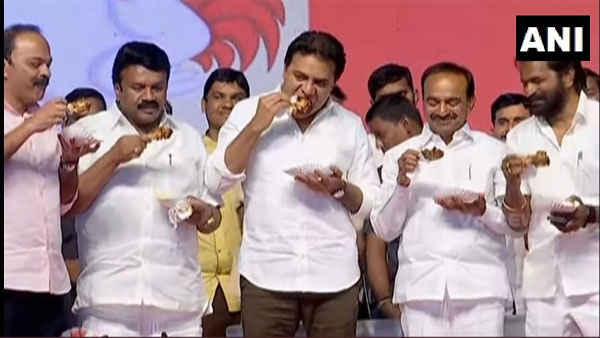 Telangana govt kills circulation of fake news on Coronavirus by eating chicken at event