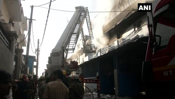 Fire breaks out at Delhis spare part factory