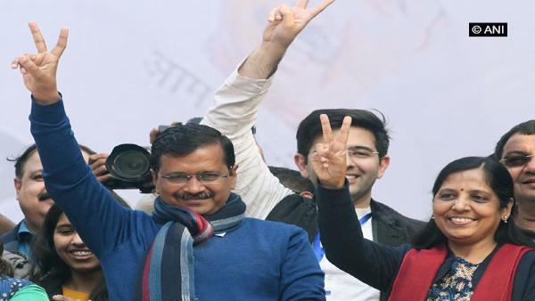Arvind Kejriwal wins from New Delhi seat, AAP wins 62 seats, BJP 8