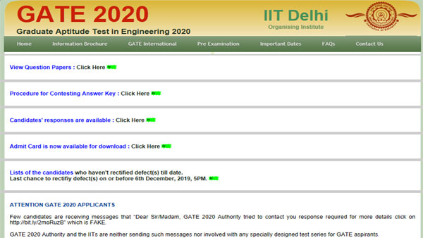 GATE 2020 answer key: Raise objections today