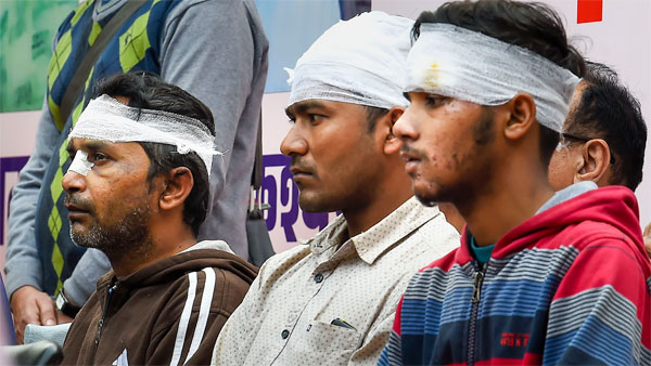 Injured victims of riot-affected areas