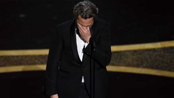Fight against belief that one nation, one race... Phoenix Oscar speech was as wild as you expected
