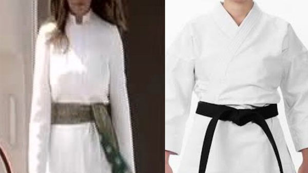 Melania got her Karate green belt: Twitterati mocks US First Ladys outfit during her India visit