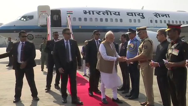 Namaste Trump: PM Modi arrives at Ahmedabad International Airport to welcome President Donald Trump