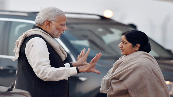 File photo of Narendra Modi and Sushma Swaraj