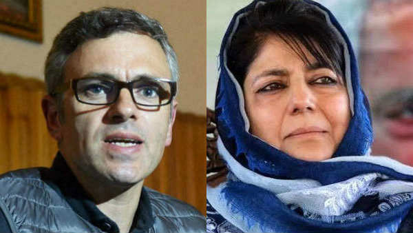 File photo of Omar Abdullah and Mehbooa Mufti