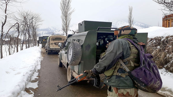 3 terrorists gunned down at Pulwama