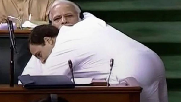 Congress humorous Hug day wish for BJP