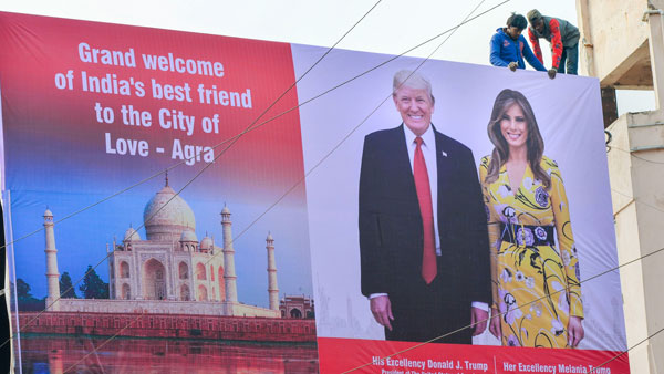 Agra residents eager to catch a glimpse of Donald Trumps 2018 Beast