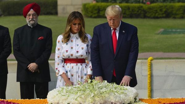Donald Trump, Melania pay homage to Mahatma Gandhi at Rajghat