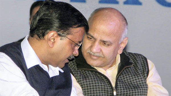 Delhi Chief Minister Arvind Kejriwal and Deputy CM Manish Sisodia