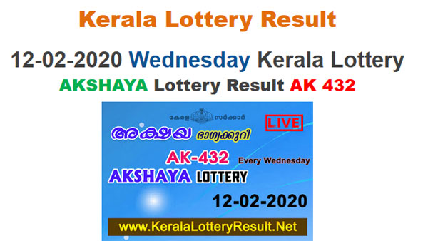 Kerala Lottery Akshaya AK-432 today lottery result LIVE