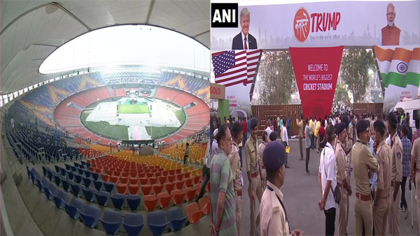 Ahead of Trump's visit, entry gate at Motera stadium collapses