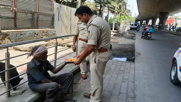 Coronavirus pandemic: Bengaluru Police provide food to needy during lockdown