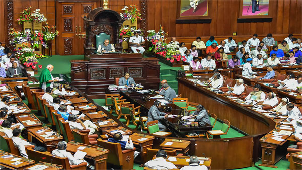 Karnataka Chief Minister BS Yediyurappa presents the State Budget 2020-21 at Karnataka Assembly, in Bengaluru