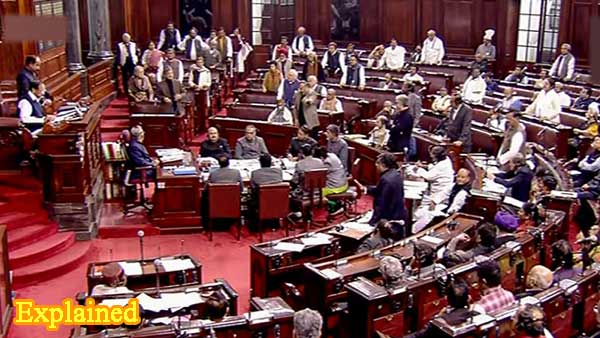 Ruckus in Rajya Sabha after government pushes for passage of farm bills