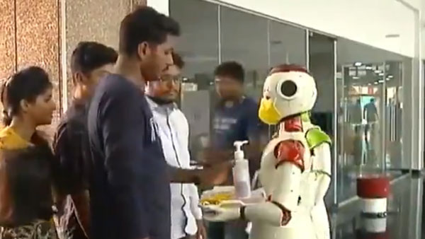 Coronavirus: Robots in Kerala dispensing sanitisers, advices people how to prevent