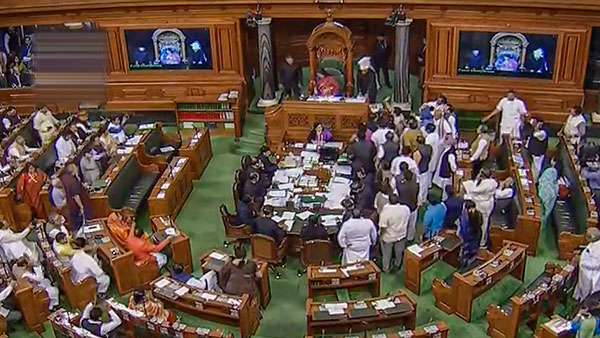 7 Congress MPs suspended from Lok Sabha for disrupting proceedings