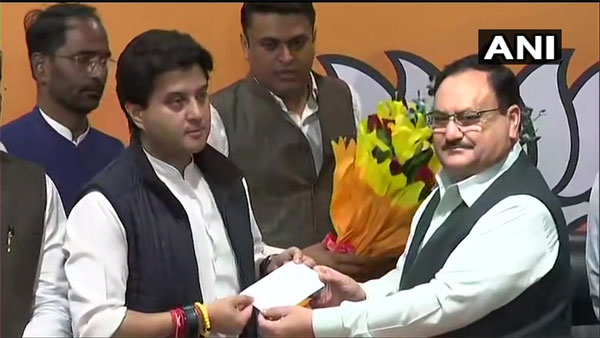 New leadership is not given chance in Congress, says Jyotiraditya Scindia after joining BJP