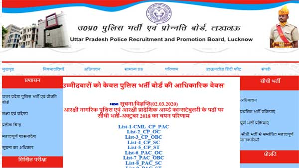 UP Constable Final Result declared