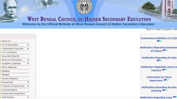 WBCHSE Higher Secondary admit card 2020 date: Download date sheet here